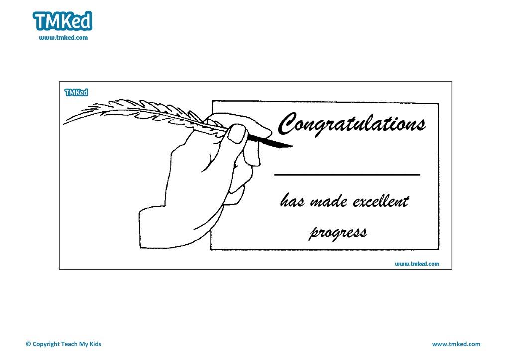 Congratulations Certificate TMK Education – Congratulations Certificate