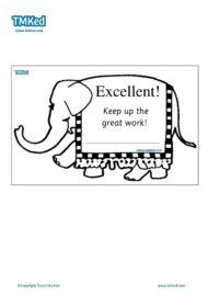Teacher Resources, Certificates for kids, free homeschool worksheets, Worksheets for kids - elephant certificate