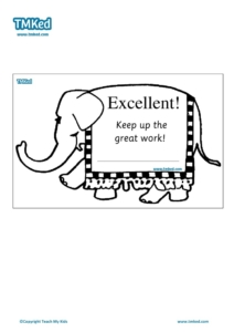 Teacher Resources, Certificates for kids, free homeschool worksheets, Worksheets for kids - elephant certificate