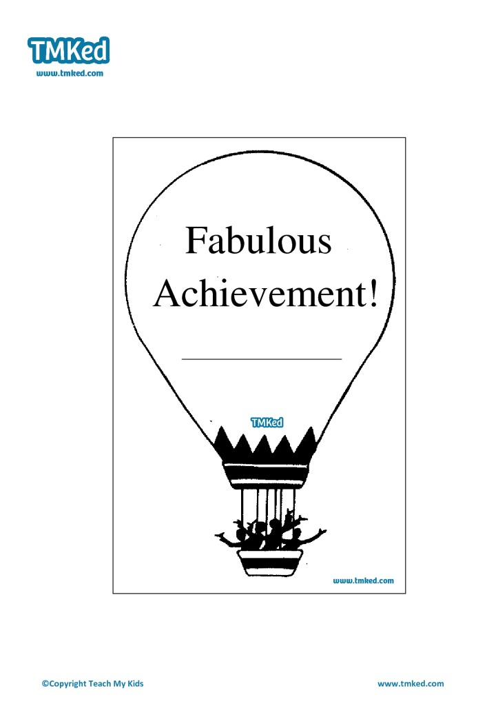 Fabulous achievement certificate tmk education for Fabulous achievement
