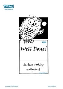 Teacher Resources, Certificates for kids, free homeschool worksheets, owl certificate