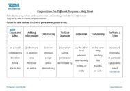 Teacher resources, free home school worksheets, Key stages 1 & 2 Worksheets for kids - conjunctions, grammar help