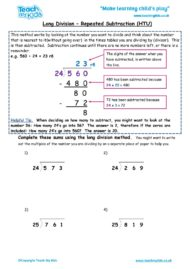 Worksheets for kids - long-division-repeated-subtraction-htu