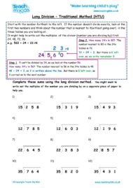 Worksheets for kids - long-division-traditional-methodhtu