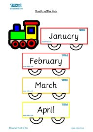 Teacher resources, free home school worksheets, Key stages 1 & 2 Worksheets for kids - months flashcards