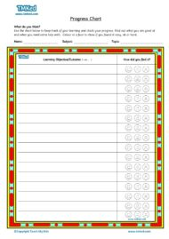 Teacher resources, free home school worksheets, Key stages 1 & 2 Worksheets for kids - progress chart 1