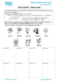 Worksheets for kids - short-division-flower-power
