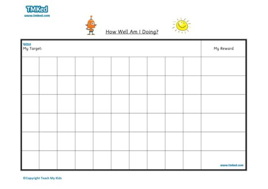 Teacher resources, free home school worksheets, Key stages 1 & 2 Worksheets for kids - sticker chart 1