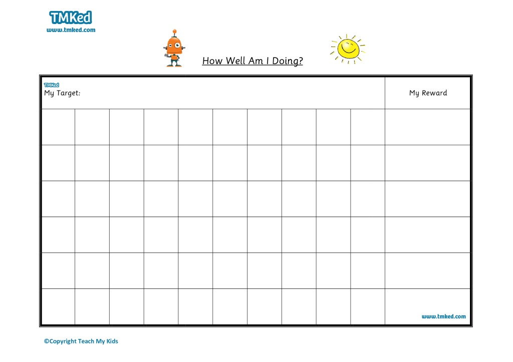 Sticker  Reward Chart   Tmk Education