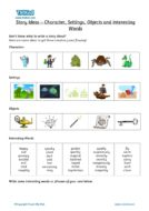 Literacy Help, Teacher resources, free home school worksheets, Key stages 1 & 2 Worksheets for kids - story ideas