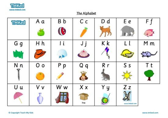 Learn the alphabet - Teaching resources