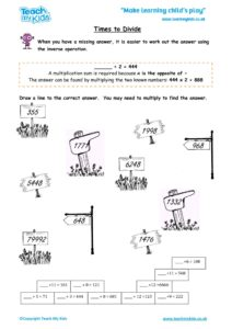 Worksheets for kids - times-to-divide