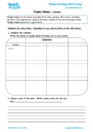 proper nouns revision worksheet