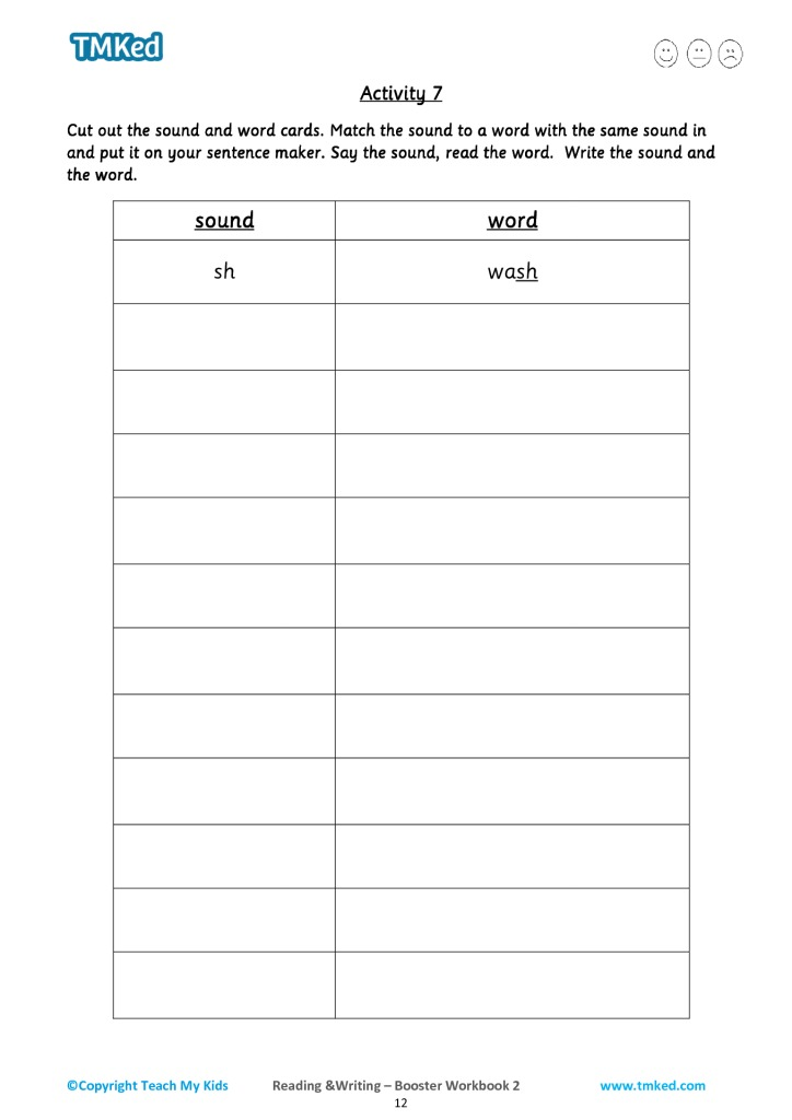 Reading & Writing, Booster Workbook 2 (5-7 Years)