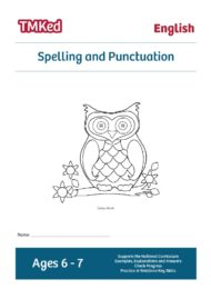 Key Stage 1 Literacy Worksheets for kids - SPAG, spelling and punctuation printable workbook, 6-7 years