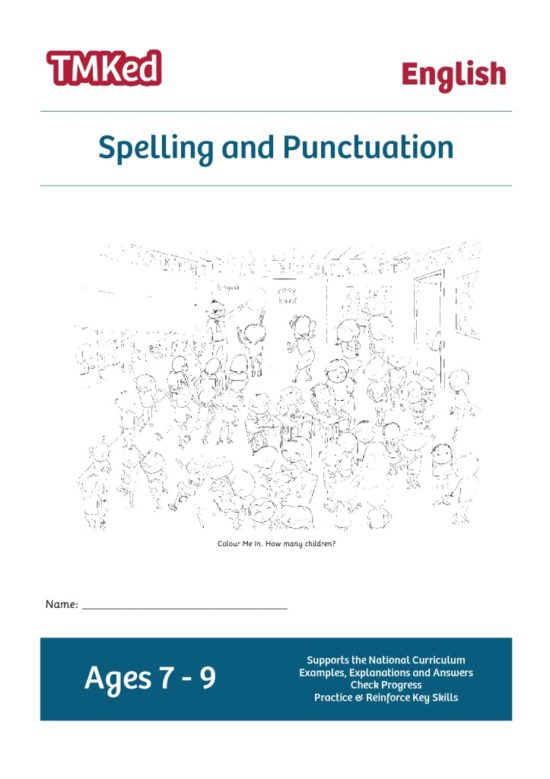 Key Stage 2 Literacy Worksheets for kids - SPAG, spelling and punctuation printable workbook, 7-9 years