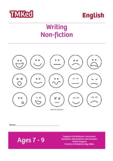 Key stage 2 Literacy Writing Worksheets for kids - writing non-fiction text, printable workbook, 7-9 years