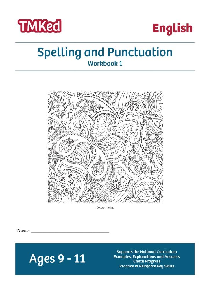spelling punctuation workbook 1 9 11 years tmk education. Black Bedroom Furniture Sets. Home Design Ideas