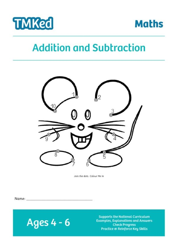EYFS, KS1 maths worksheets for kids - addition and subtraction workbook, 4-6 years