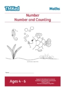 EYFS, KS1 maths worksheets for kids - number and counting workbook, 4-6 years