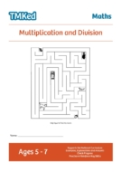key stage 1 maths, Worksheets for kids - multiplication and division workbook, 5-7 years