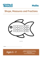 key stage 1, Worksheets for kids - shape,measures,fractions workbook, 5-7 yeras