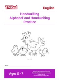 EYFS, Key Stage 1 Literacy Worksheets for kids - Alphabet and Handwriting Practice printable workbook
