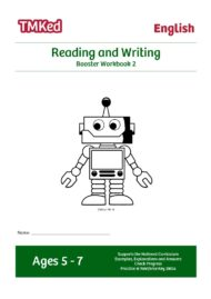 KS1 literacy worksheets for kids - reading and writing worksheets, booster workbook 2, 5-7 years