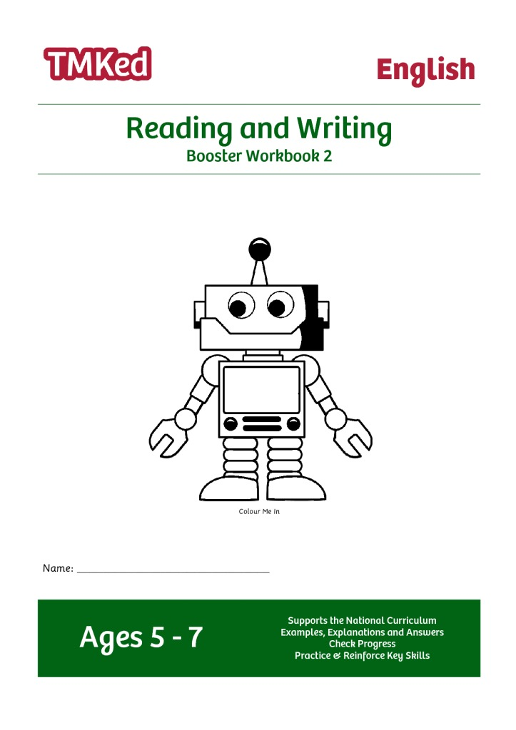 Reading Writing Booster Workbook 2 57 Years Tmk Education. Reading Writing Booster Workbook 2 57 Years. Worksheet. Handwriting Worksheets Colours At Clickcart.co