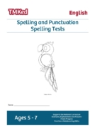 KS1 literacy worksheets for kids - spelling tests workbook, SPAG 5-7 years