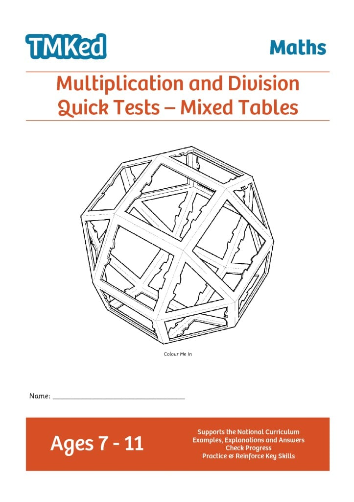 Multiplication Division Quick Tests Mixed Tables 7 11 Years
