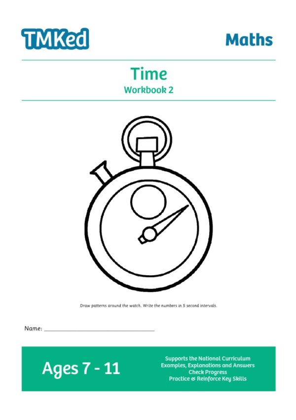KS2 maths worksheets for kids - time, telling the time, printable workbook 2, 7-11 years