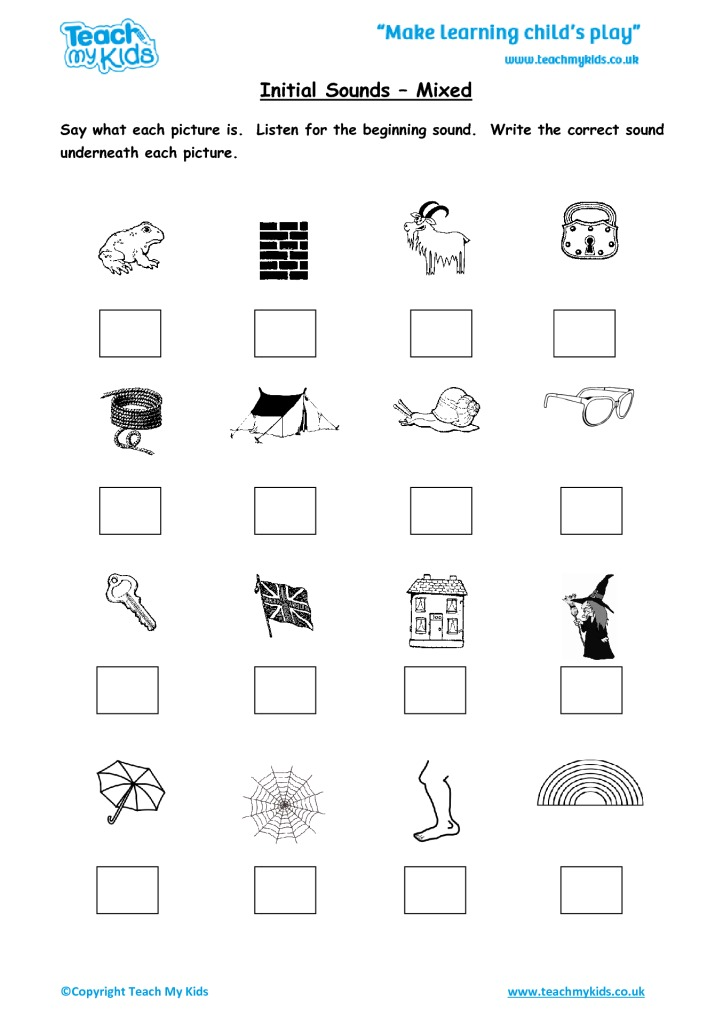 Phonics Initial Sounds Workbook 1 46 Years Tmk Education. Phonics Initial Sounds Workbook 1 46 Years. Worksheet. Worksheet For Qu Sound At Mspartners.co