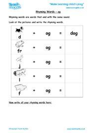 Worksheets for kids - rhyming-words-og