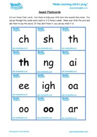 Teacher resources, free home school worksheets, Key stages 1 & 2 Worksheets for kids - letter sound flashcards