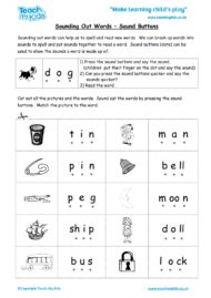 Worksheets for kids - sounding-out-words-sound-buttons