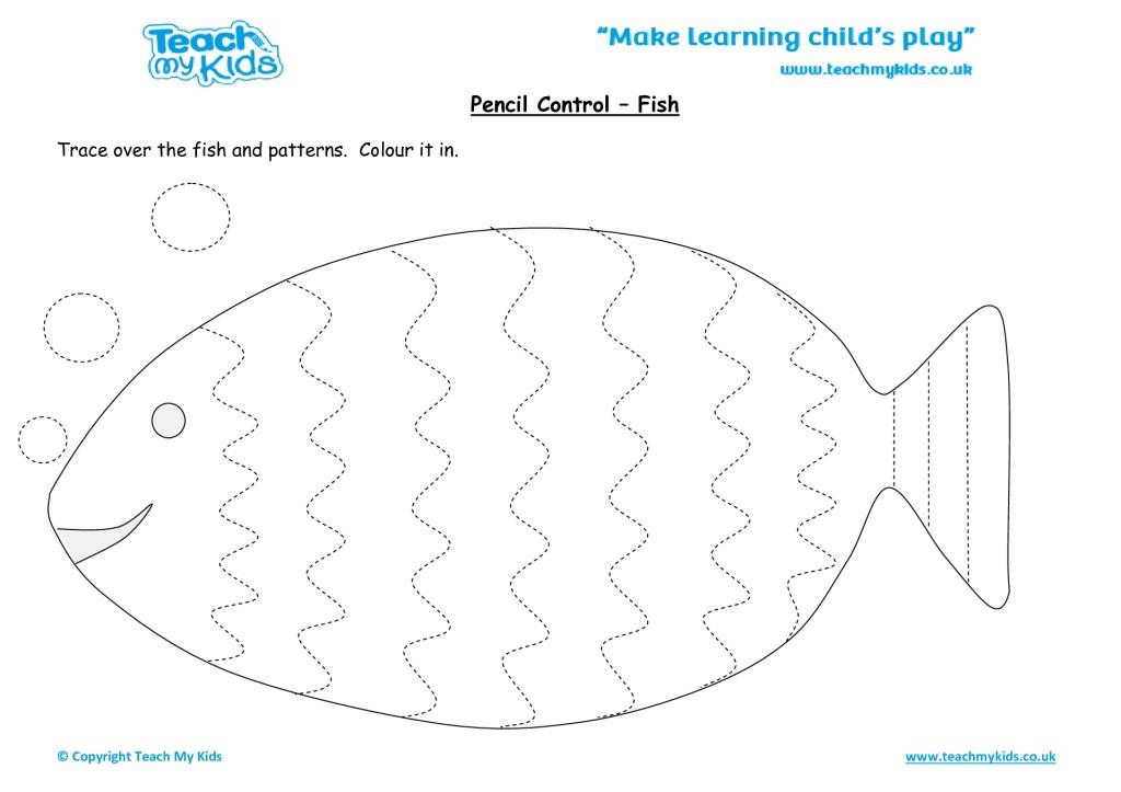Pencil Control Fish Tmk Education