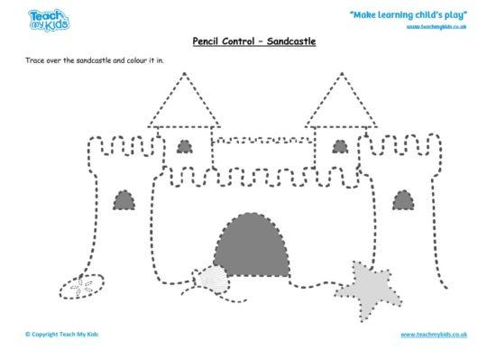 Worksheets for kids - pencil control – sandcastle