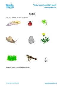 Worksheets for kids - Find It