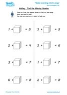Worksheets for kids - adding-find-the-missing-number