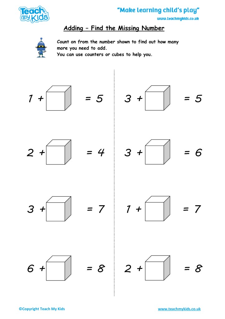 Find The Missing Number Tmk Education