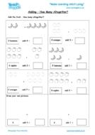 Worksheets for kids - adding-how-many-altogether