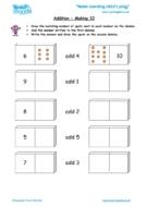 Worksheets for kids - addition-making-10