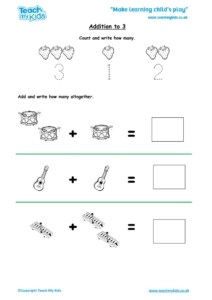 Worksheets for kids - addition-to-3