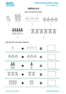 Worksheets for kids - addition-to-6