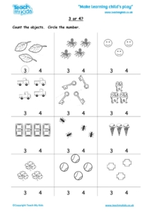 Worksheets for kids - 3-or-4