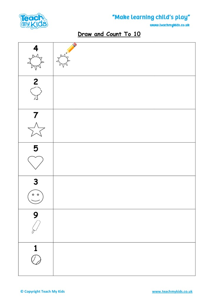 Draw and Count to 10 - TMK Education