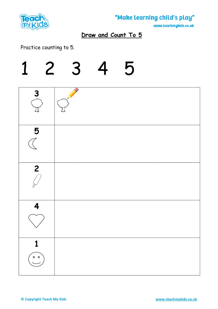 Draw and Count to 5 - TMK Education