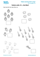 Worksheets for kids - numbers-under-10-how-many