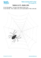 Worksheets for kids - numbers_to_15,_spiders_web